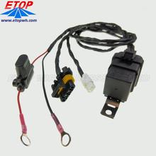Interruptor de relé automotriz arnés de cableado resistente a la intemperie de 30 amperios 12V