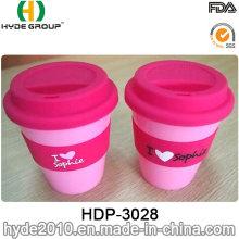 Taza plástica libre del viaje de la taza de café de 350ml BPA con la manga (HDP-3028)