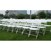 Resina plástica plegable sillas Silla de la boda al por mayor Silla plegable de plástico
