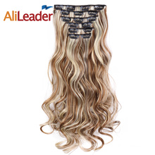 Synthetic Body Wave 16 Clips In Hair Extension