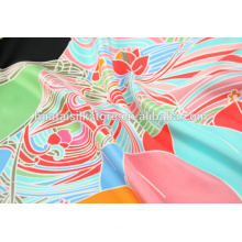 2014 top quality digital printed silk satin fabric in china