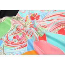 Tissu de satin en soie imprimé numérique de qualité supérieure en 2014 en Chine