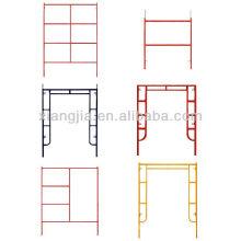 Échafaudage principal de cadre en acier de 1524 * 1219mm Q235 pour la construction