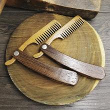 FQ marque santé antistatique naturel des soins de santé logo personnalisé peigne en bois