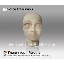 3D-stéréo tatouage pratique tête-lèvres sourcils Pratique Dermis Fake Skin