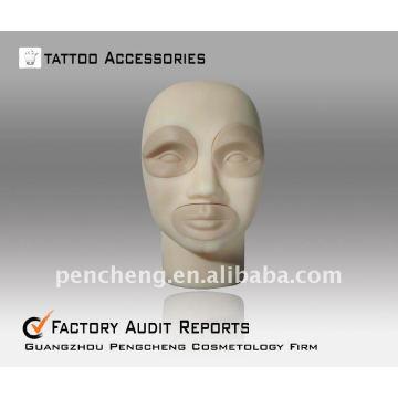 3D-Stereo tattoo practice head-lips sobrancelha Practice Dermis Fake Skin