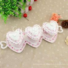 Schöne Fassade Porzellan Keramik Kanister Tee Kaffee Zucker Set