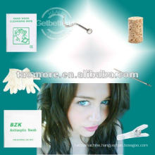 Professional Nose Stud Screw Sprout Nose Stud with 2mm Gem Clear