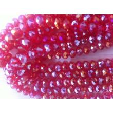 Red Ab Fancy Stones Perlen mit Loch