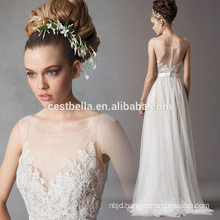 Alibaba Sexy China New Guangzhou A Line See Through Lace Applique Wedding Dress Bridal Gown 2017
