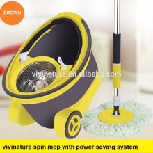 Venda quente magia de limpeza spin mop 360 spin mop com duas cabeças de microfibra mop