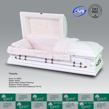 LUXES caixões de madeira tamanho grande Funeral americano cores de caixões