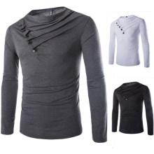 2017 heiße Neue Produkte Originalität Streetwear Hip Hop Kleidung Plain Schwarz Männer ST Shirts