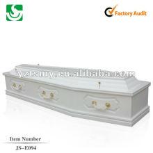 ataúd de madera sólida chino barato JS-E094