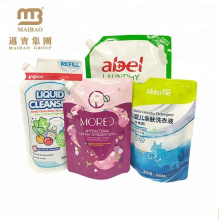 Custom Printed Laminated Refill Standup Spout Washing Soap Liquid Pouch Packing for Detergent