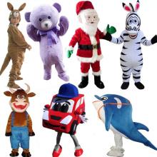Chine Personnalisé Pas Cher En Peluche Zèbre Voiture Ted Monstre Dauphin Emoji Ours Singe Taureaux De Noël Enfant de Bande Dessinée Personnage Mascotte Costume