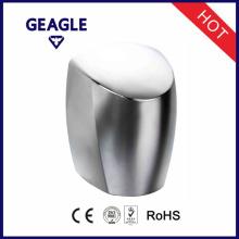 Alliage d'aluminium, finition chrome, bouton-poussoir à l'intérieur, séchoirs à main haute vitesse avec CE et certificat RoHS ZY-208A