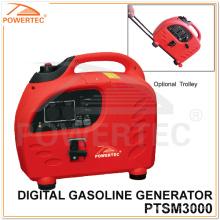 Gerador da gasolina de Powertec 4-Stroke 3.6kw Digital (PTSM3000)