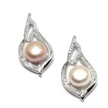 Collar pendiente de la perla de la manera para las bodas del partido de señora Woman