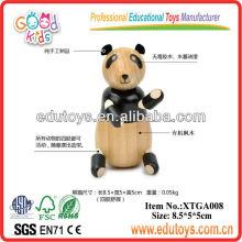 Juguetes del jardín de la infancia, juguetes de madera de la panda