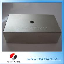 Неодимовый магнитный блок с отверстием