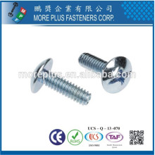 Made in Taiwan M5 #32X25.4 Ansi Phillips Slotted Combo Truss Head Machine Screw