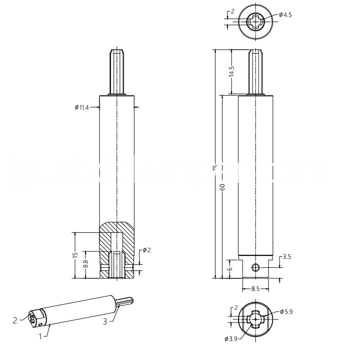 Rotary Damper For Blinds