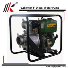 Démarrage manuel ou électrique 4 'pompe à eau diesel Kenya irrigation agricole / puits profond