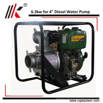 Arranque manual o eléctrico de la bomba de agua diesel de 4 'Irrigación agrícola de Kenia / pozo profundo
