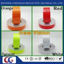 Cinta reflectante de la nueva visibilidad del PVC con la película cristalina del enrejado para muchos colores