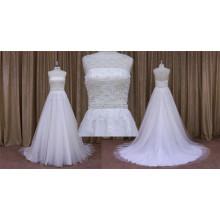 Une ligne robe de soirée en tulle / robe de mariée