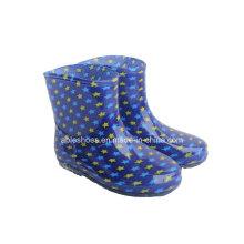 Botas de chuva de estrelas legal de crianças, crianças chuva de sapatos