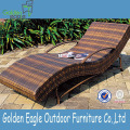 S Shape Armed Recliner Rotan-tuinset