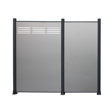 Aluminum Privacy Profiles ACP Fence for Garden Style Metal Simple All-season 15years Powder Coating Easily Assembled