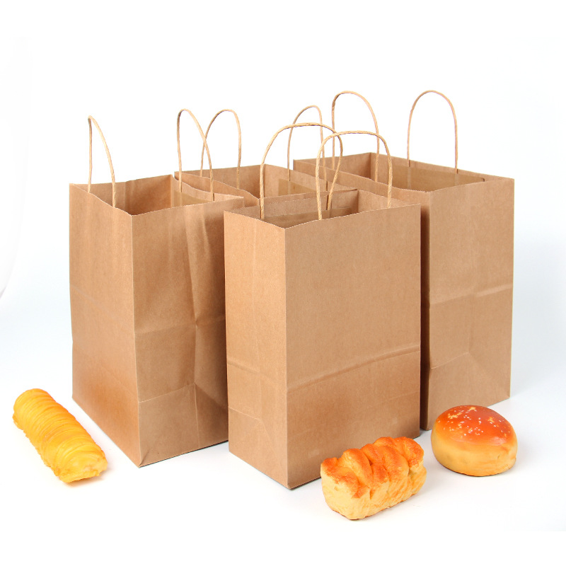 Cheap kraft marrón bolsas de papel de compras