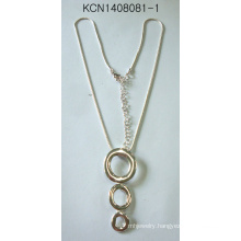 Fashion Jewelry Silver Necklace with Round Pendant