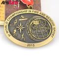 Дизайн свои собственные 3D-чудесное пластиковые античное золото серебро бронза пустой католическая медаль