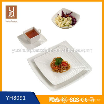 Hign Qualität quadratische Form poland Porzellan Geschirr Set