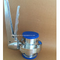 Válvula de borboleta sanitária apertada do aço inoxidável personalizada