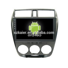 Quad core! Android 6.0 car dvd for CITY with 10.1 inch Capacitive Screen/ GPS/Mirror Link/DVR/TPMS/OBD2/WIFI/4G
