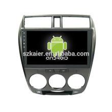 Quatro núcleos! Android 6.0 carro dvd para CITY com 10.1 polegadas tela capacitiva / GPS / Link Mirror / DVR / TPMS / OBD2 / WIFI / 4G