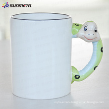 sublimation Animal blank mug snake