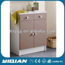 Главная Жилая мебель Горячая продажа Модный шкаф Свободно стоящий двухдверный шарнир с буфером для хранения древесины