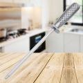 Aiguiseur de couteaux en acier à haute teneur en carbone avec manche en acier inoxydable