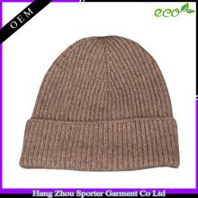 16FZBE04 tricot beanie cachemire hommes bonnet personnalisé pour l'hiver