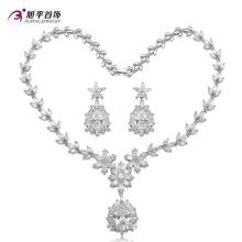 Ensemble de bijoux de luxe diamant Rhodium CZ pour femmes Set -20