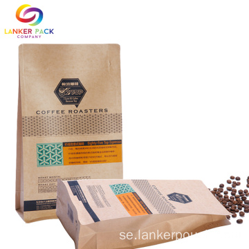 ECO Friendly Custom Kraft Paper för kaffepackning
