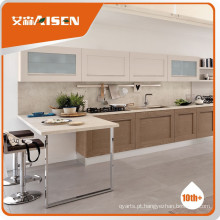Popular para o mercado estilo americano armário de cozinha de madeira maciça de carvalho branco