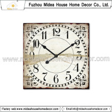Square Shape Retro Wooden Clock