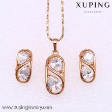 62183 Xuping Fashion Woman Jeu de bijoux avec plaqué or 18 carats